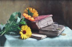 Stillife with Calendulas 33 x 41