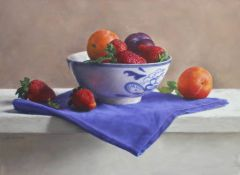 Chinabowl with Fruit 27 x 35 cm