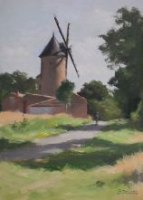French Windmill 17.5 x 25 cm
