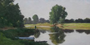 Sarthe, Morning Light 17.5 x 35 cm
